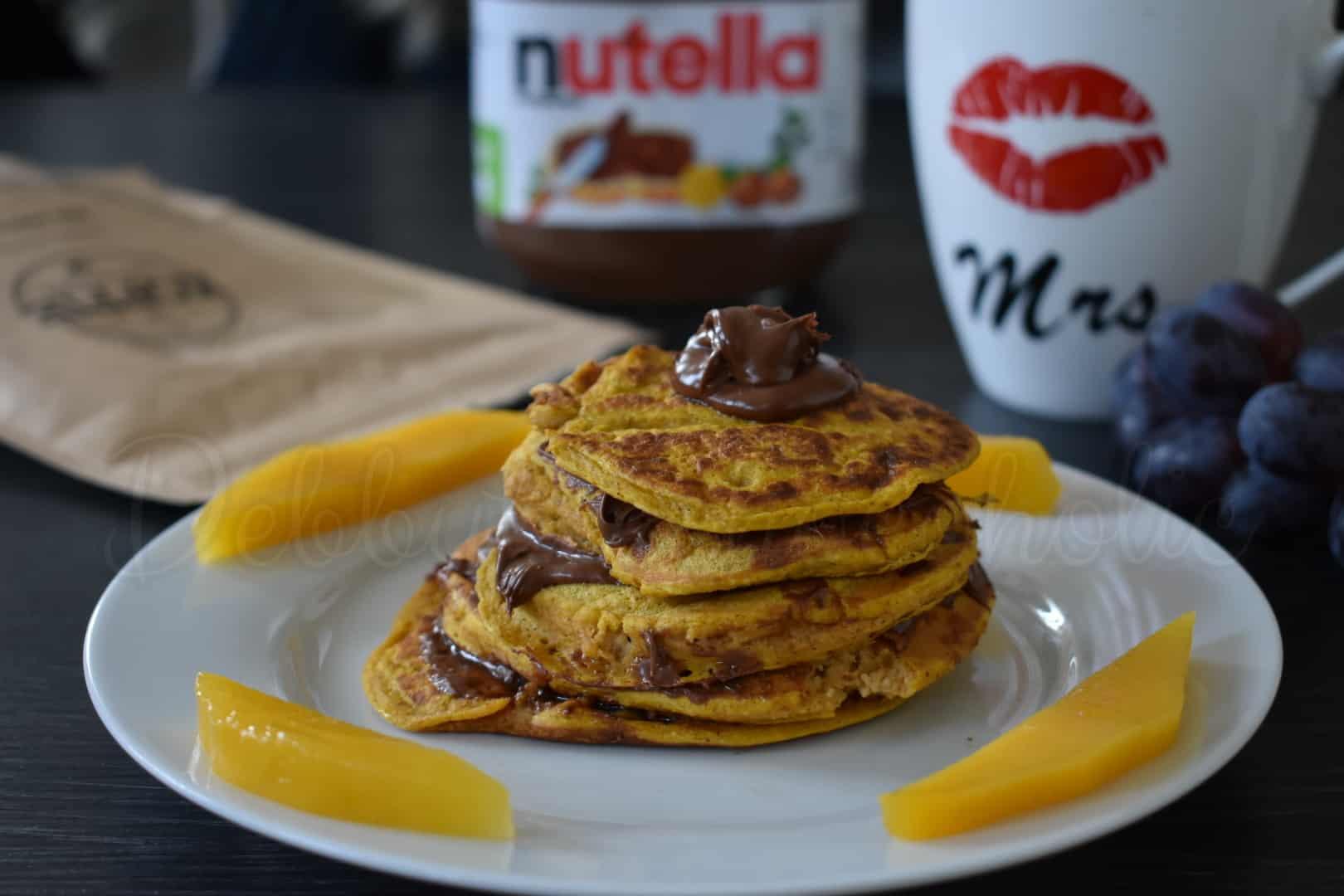 Pompoen pannenkoekjes met Nutella