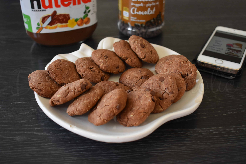 Krokante Nutella koekjes