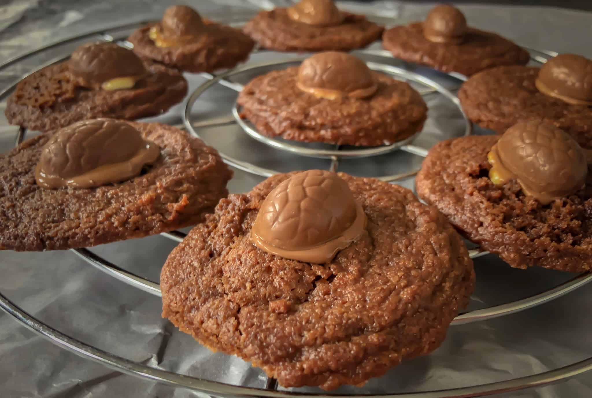 Chocoladekoekjes met paaseitjes