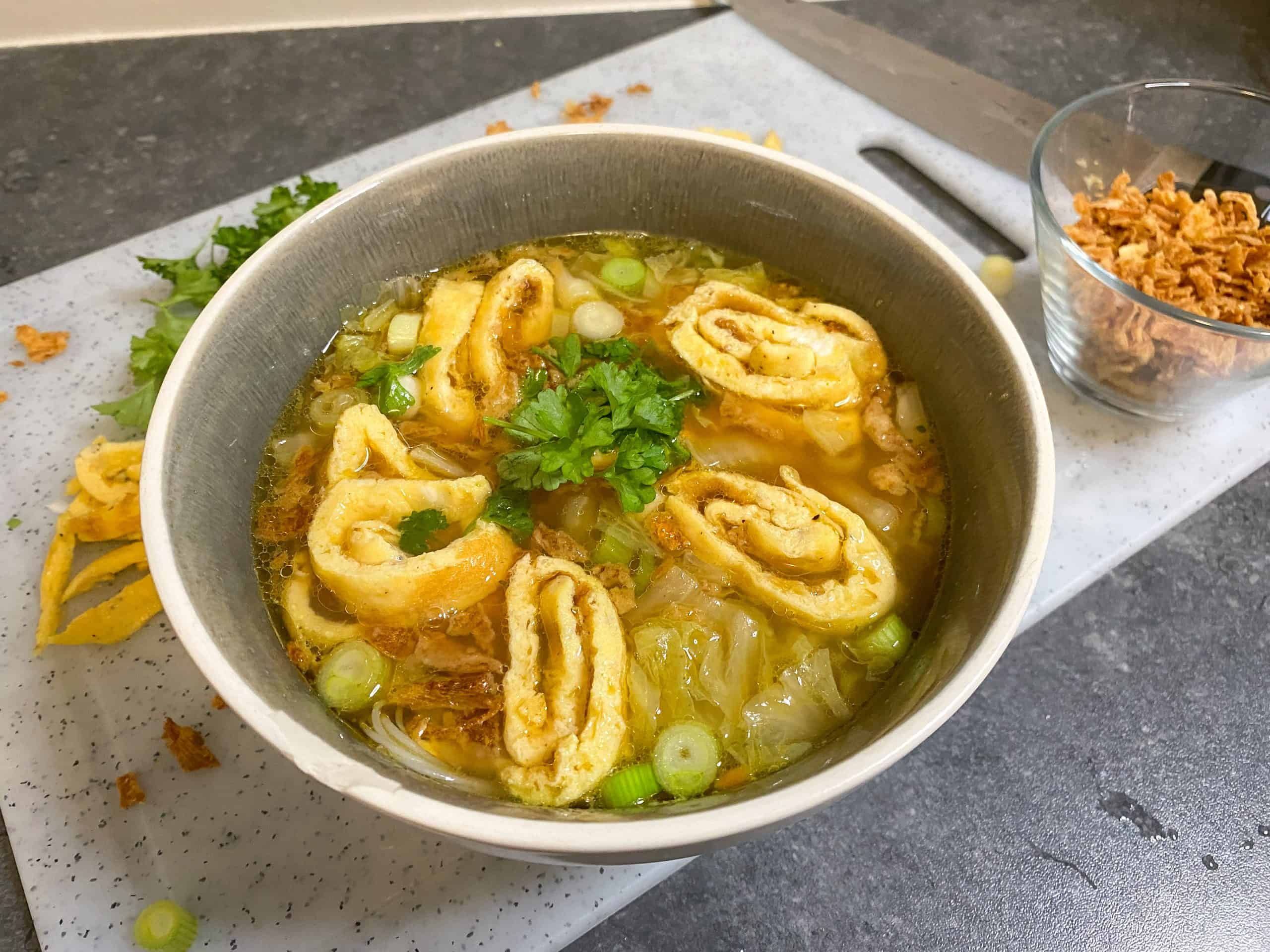 Cook Ensemble op VIER: Chinese maaltijdsoep met kip