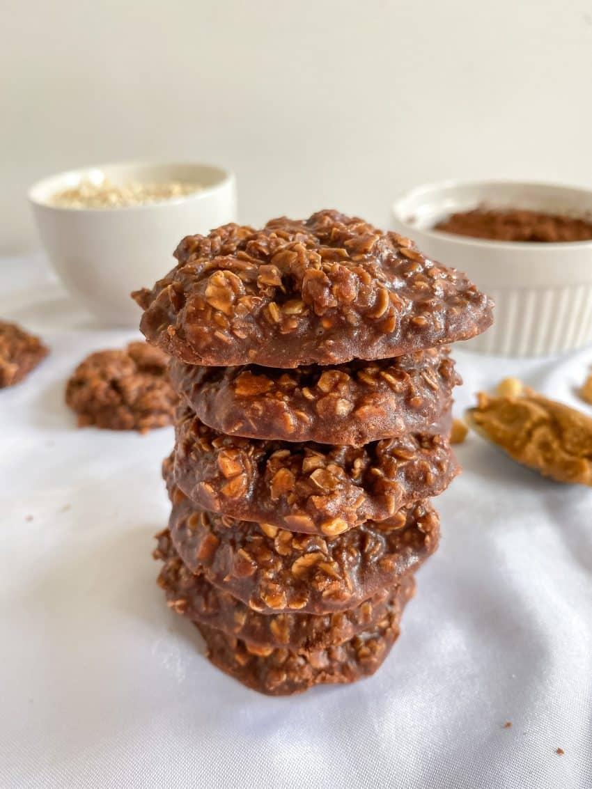 No Bake Pindakaas Chocolade koekjes