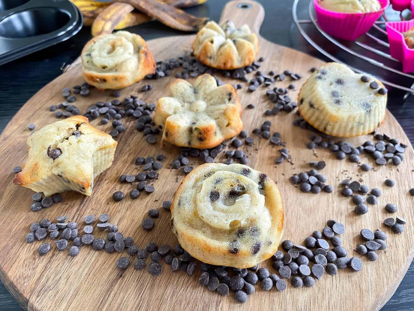 Bananen Cupcakes met Chocolade Chips