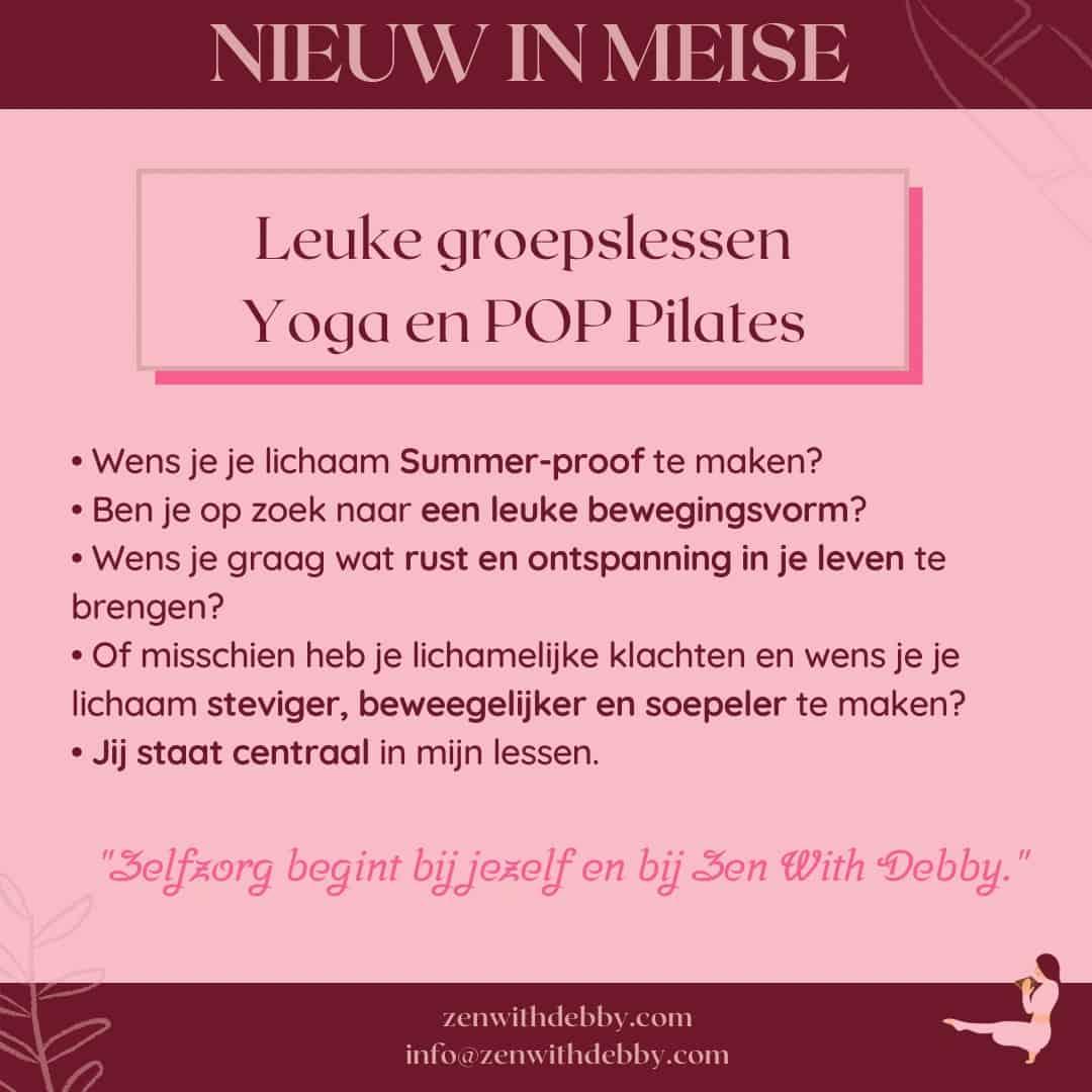 groepslessen Yoga en POP Pilates Meise